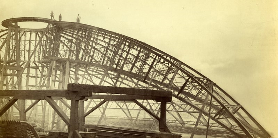 Construction of the Dome Roof in Manchester 1870s, Royal Albert Hall Archive