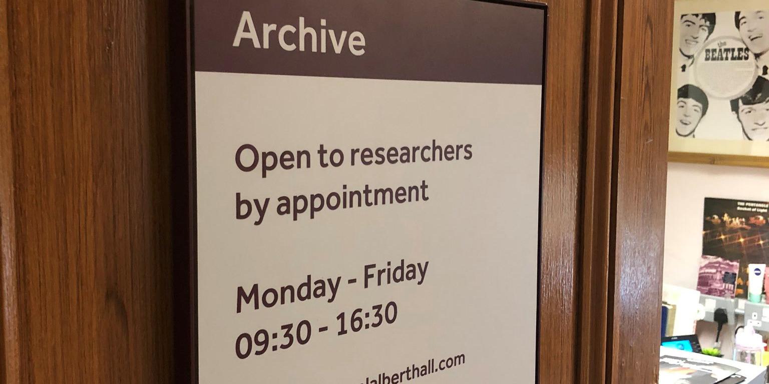 Royal Albert Hall Archive door
